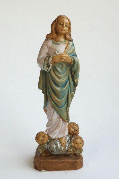画像1: 樹脂製 被昇天の聖母像 7.3cmNB (1)