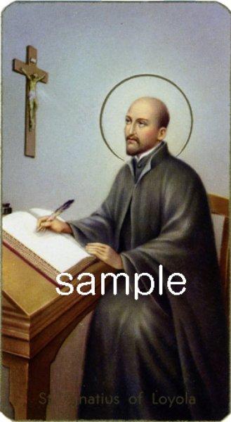 画像1: イタリア製 ご絵 聖イグナチオ(ロヨラ)7月31日(400-183) (1)