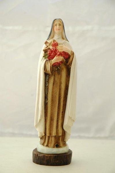 画像1: プラストマーブル製 聖テレジア像 20cm 色付   (1)
