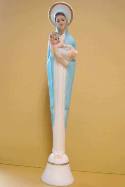 画像1: プラストマーブル製 聖母子像 色付 22.5cm 【店頭在庫のみ】 (1)