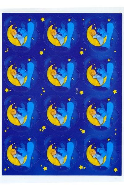 画像1: イタリア製シール おやすみ天使とこども EG892 (1)