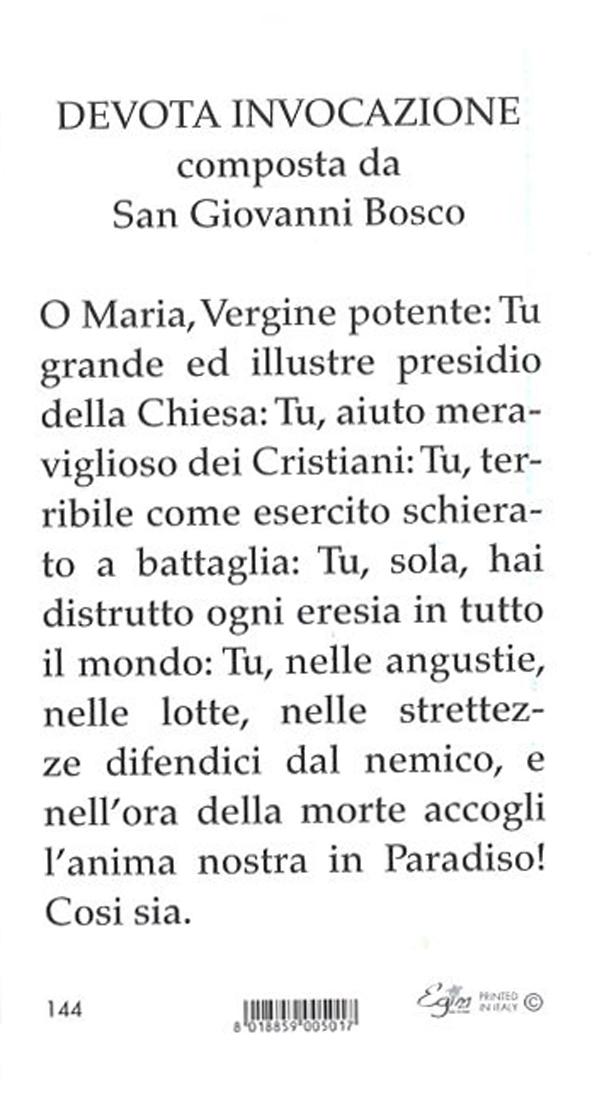 イタリア製 ご絵 扶助者聖母 裏:祈り(イタリア語)144 - ドン ...